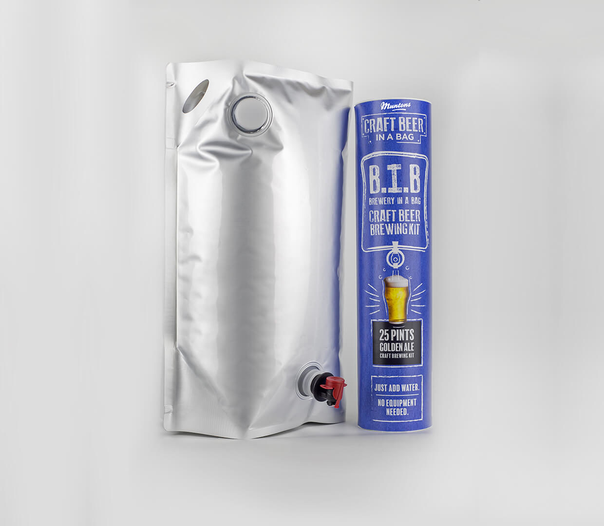 Golden Ale Tube And Bag