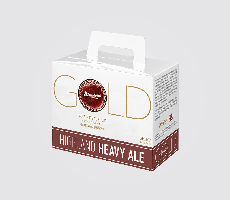 Heavy Gold Beer Box